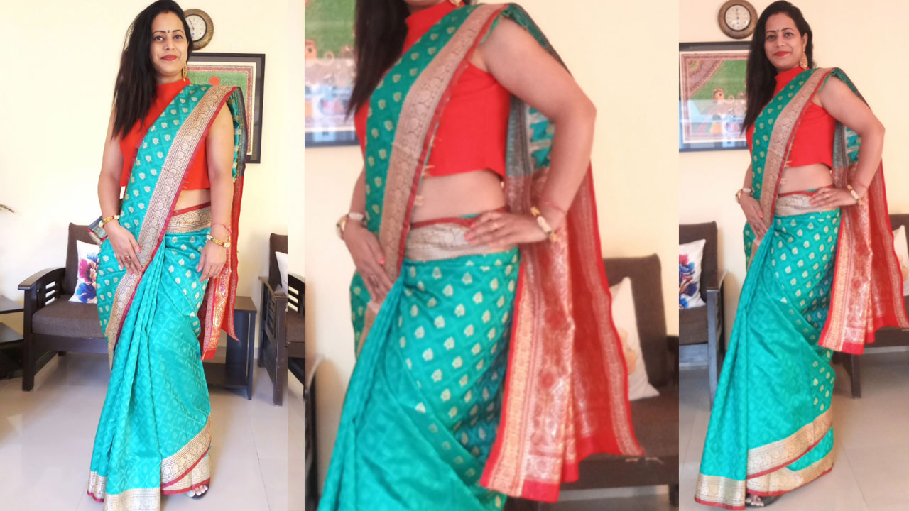 Double Petticoat Saree Draping How To Wear Double Petticoat Saree
